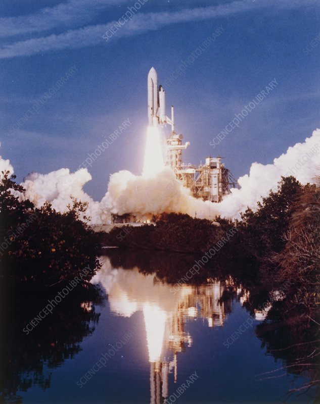 Launch of first Space Shuttle STS-1