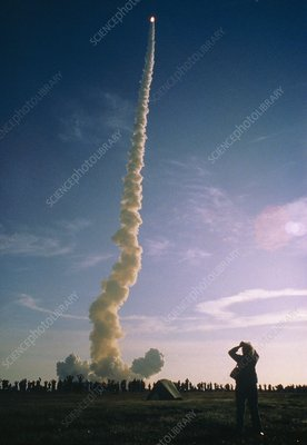 Launch of first Space Shuttle