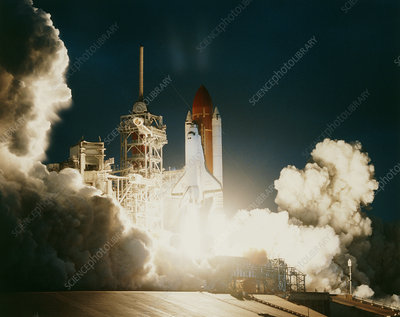Launch of space shuttle discovery