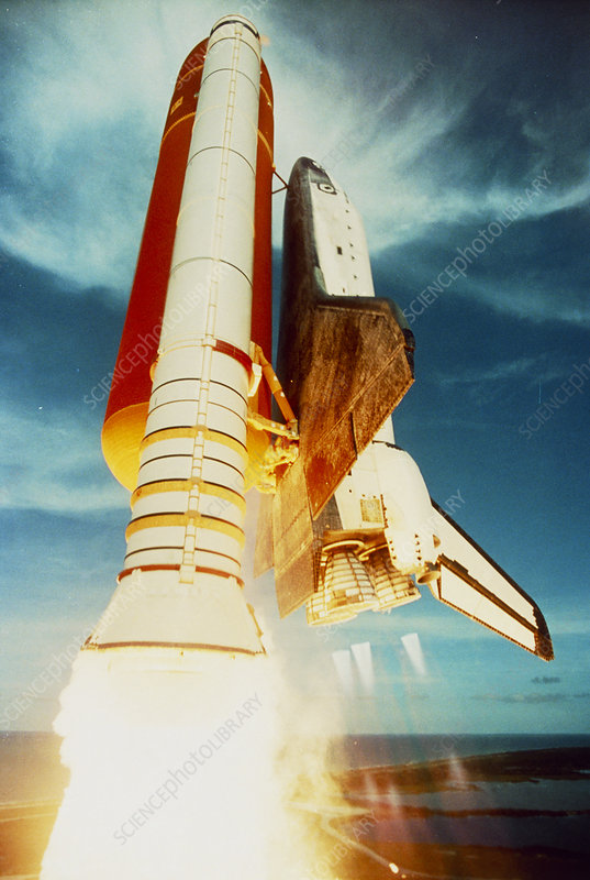 Launch of shuttle Challenger during mission 51-F