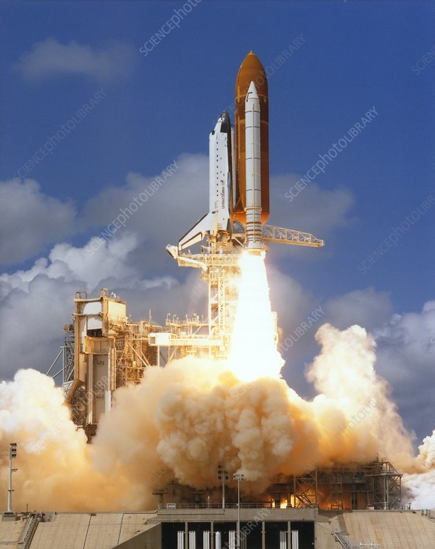 Launch of space shuttle Discovery, STS-26
