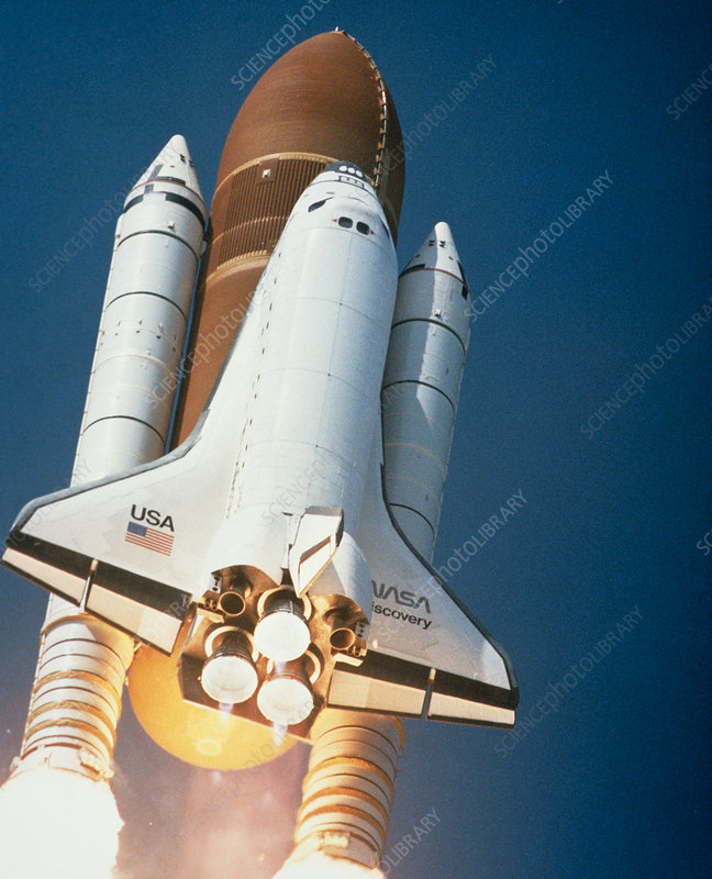 The Launch of space shuttle Discovery