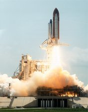 Launch of space shuttle Atlantis, STS-30