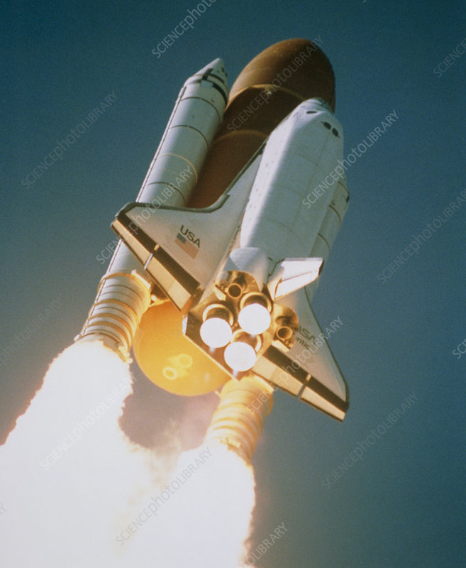 Launch of Shuttle Atlantis on STS-34