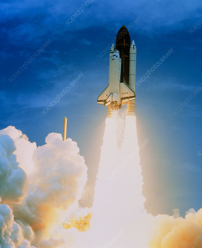Launch of Columbia on STS-50