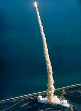 Launch of Discovery on Mission STS-42