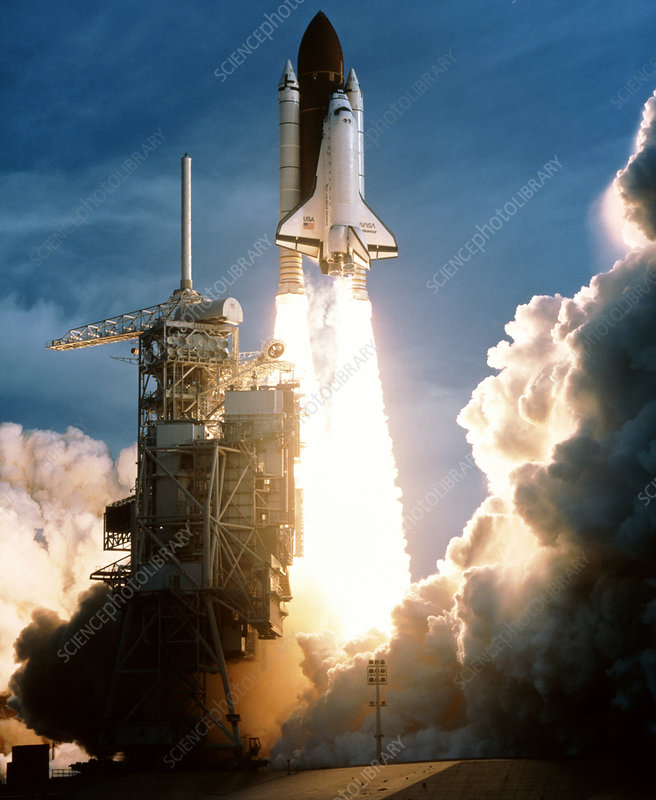 Launch of Shuttle Endeavour, STS-54, 13/1/93
