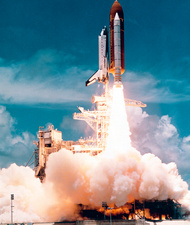Launch of Shuttle Columbia, STS-65