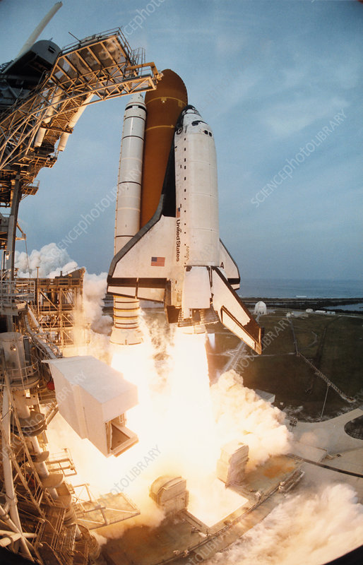 Shuttle Columbia launch, Mission STS-75, 22.2.96