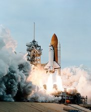 Launch of the space shuttle Columbia