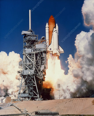 Launch of the space shuttle Discovery on STS-95