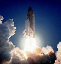 Launch of the space shuttle Discovery on STS-96
