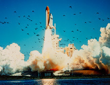Launch of space shuttle Challenger 51-L