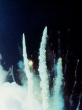 Explosion of the Space Shuttle Challenger mission