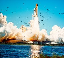 Launch of the space shuttle Challenger