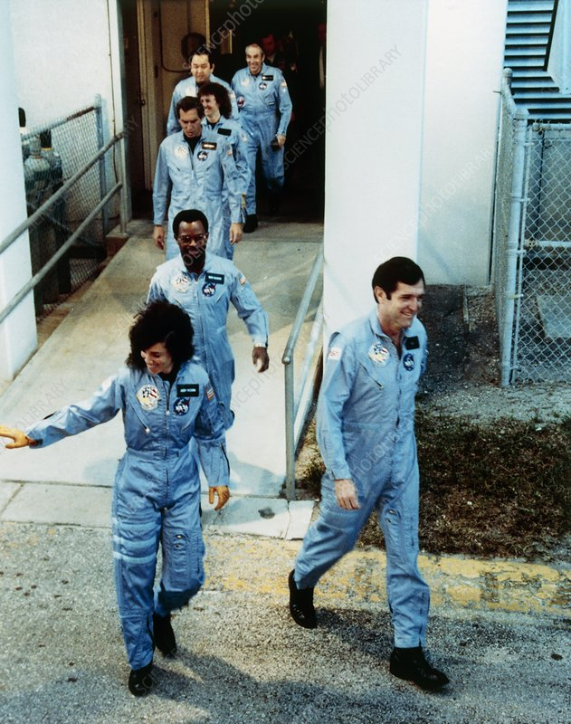 Crew members of the shuttle mission 51-L