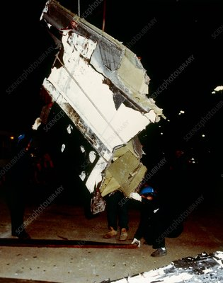 Wreckage from Shuttle 51-L disaster