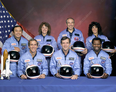 Crew photo of the space shuttle Challenger
