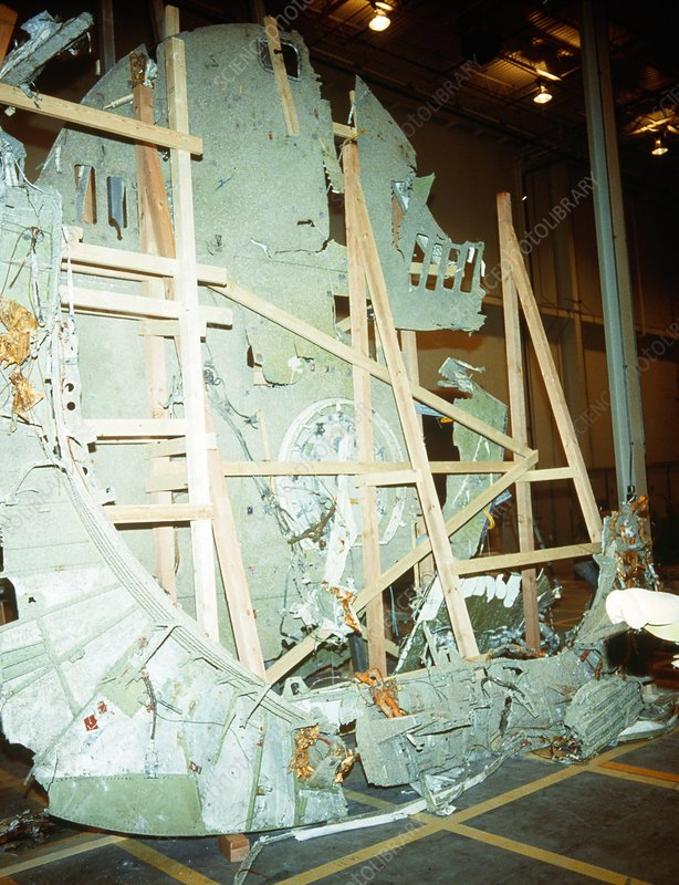 Wreckage of shuttle 51-L disaster