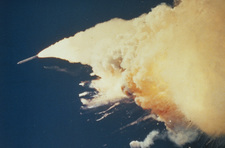Booster rocket out of control (Challenger disaster