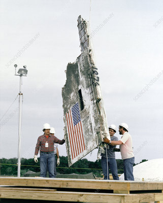 Challenger disaster wreckage