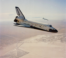 STS-4 returning to Edwards at the end of mission
