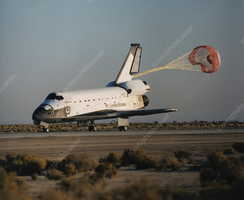 Landing of Shuttle Columbia STS-58