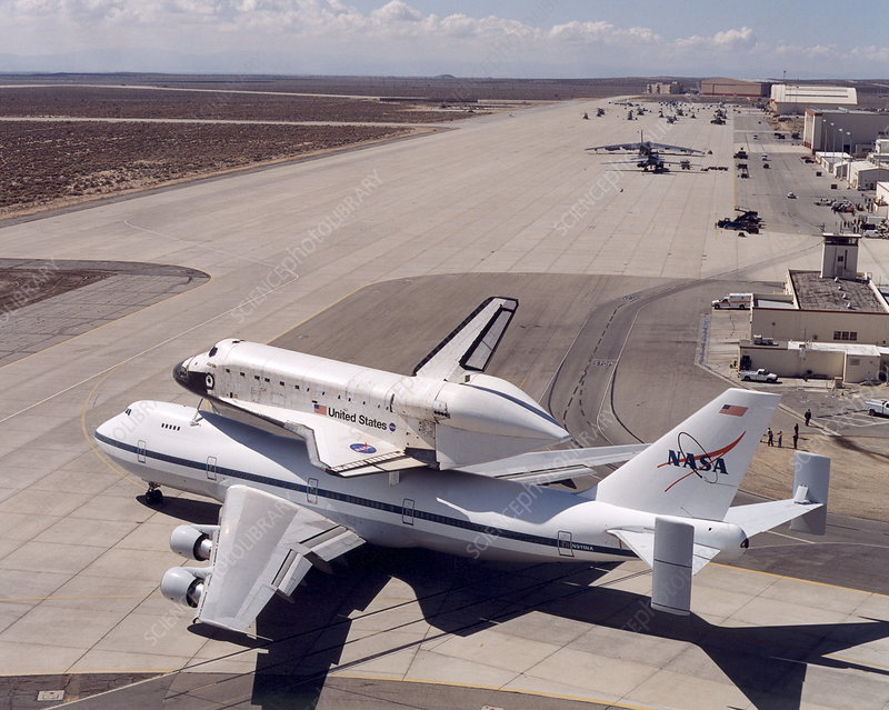 Space shuttle Atlantis on a 747