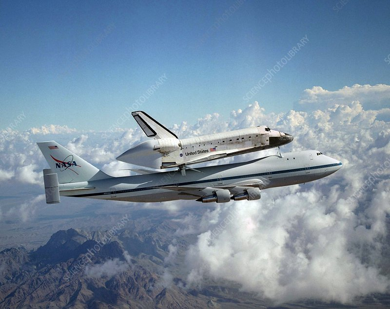 Space Shuttle Discovery and carrier