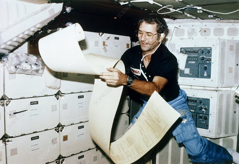 STS-2 on board photo of pilot Richard Truly