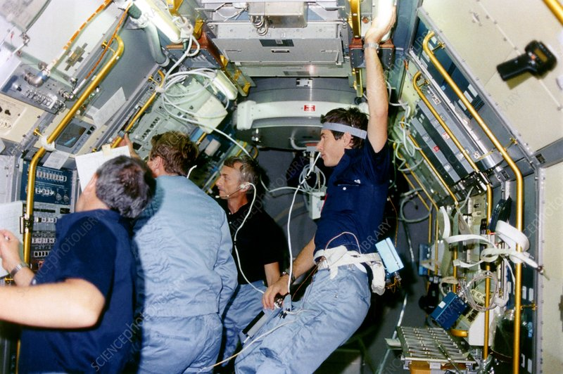 Space Shuttle astronauts in Spacelab 1