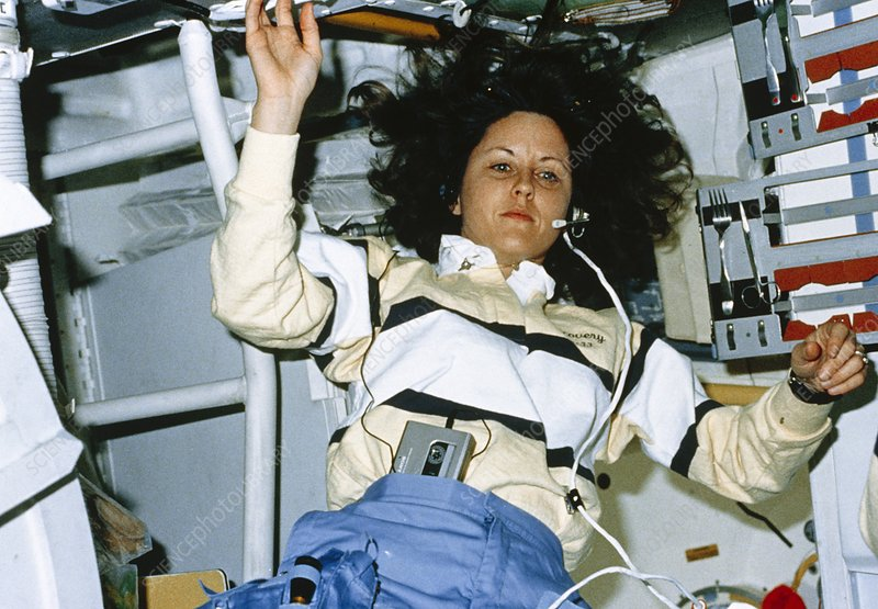 Astronaut onboard Shuttle Discovery mission STS-33
