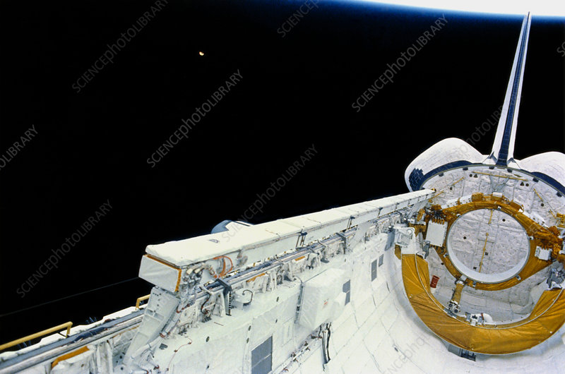 Space station radiator on test, Shuttle STS-29