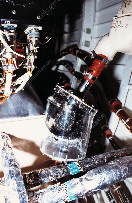 Prototype air/water filter on test, Shuttle STS-40