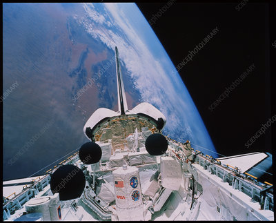 Shuttle in orbit