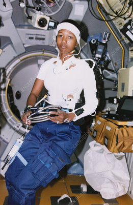 Astronaut Jemison in Spacelab-J, STS-47