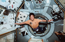 Dr Mukai in Space Shuttle mission STS-65