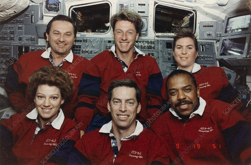 In-flight crew portrait, Shuttle Mission STS-63