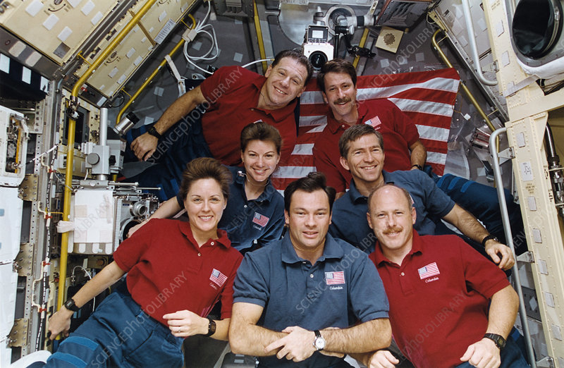 Portrait of the crew of the Columbia space shuttle