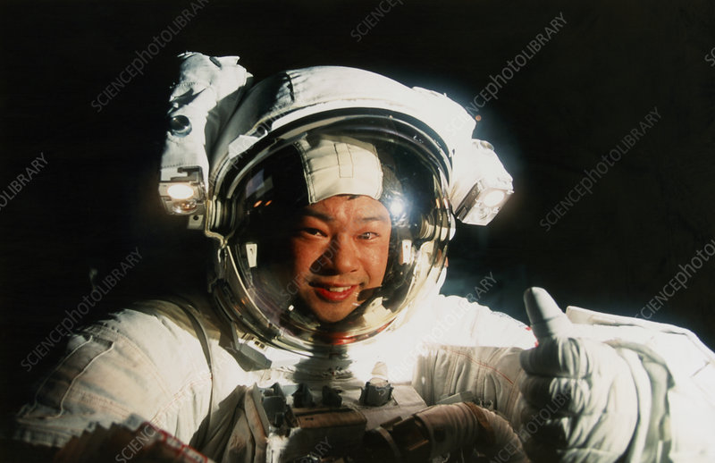 Astronaut Leroy Chiao during a spacewalk