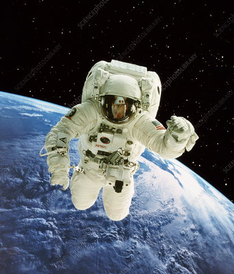 Spacewalk over Earth