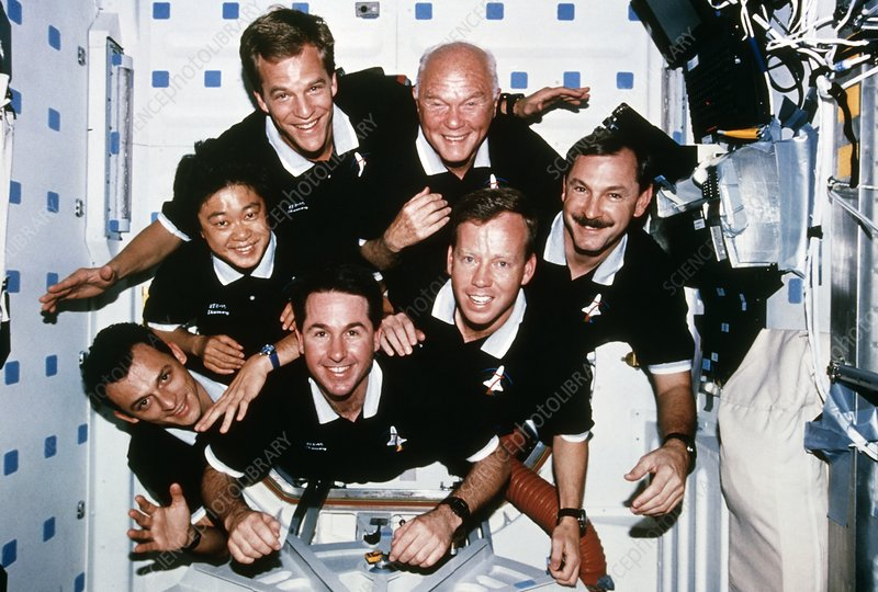 Portrait of the crew of shuttle mission STS-95