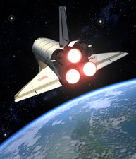 Earth-orbiting Space Shuttle
