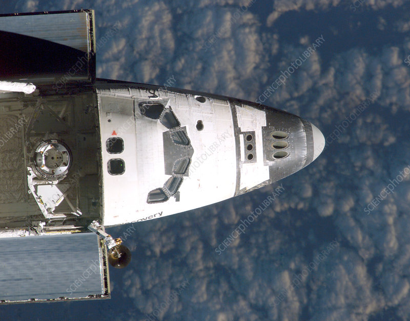 Discovery docking with ISS, STS-114