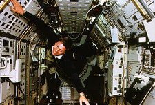 German astronaut Walter in Spacelab D2, STS-55
