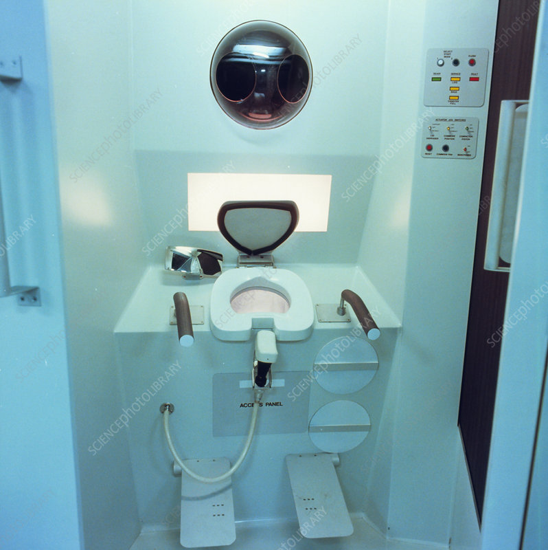 Toilet designed for the US Space Station