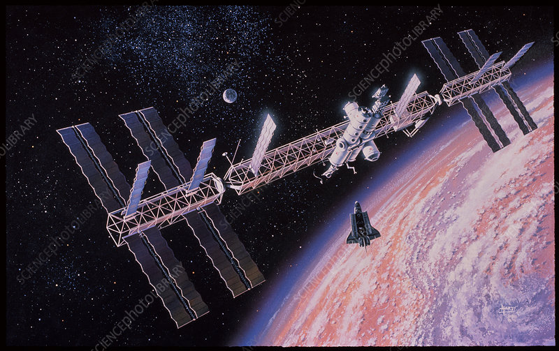 Space station Freedom - Stock Image S560/0241 - Science ...