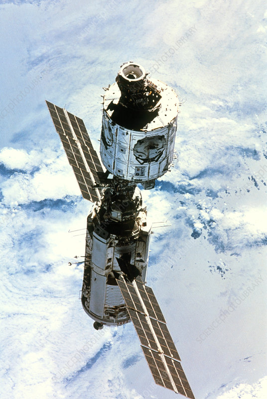 First 2 modules of the International Space Station