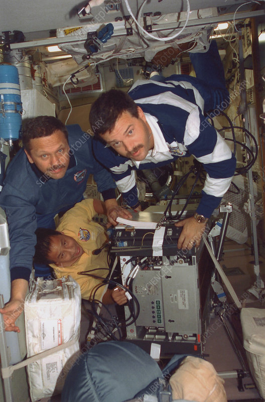 Astronauts and ISS supplies