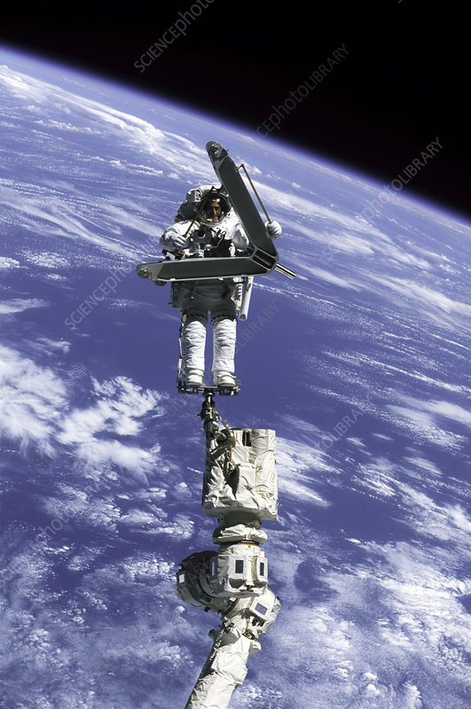 ISS construction in orbit